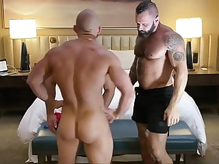 Travis Dyson and Tank Joey bareback big cock daddy