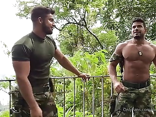 Military Guys bareback big cock daddy