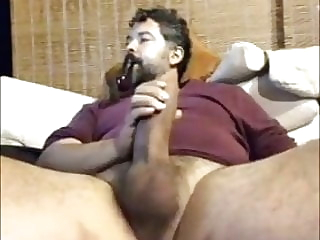 bear big cock masturbation
